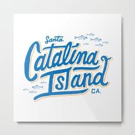 Catalina Island White  Metal Print