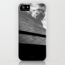 Nascar Hall of Fame Abstract Roof Black and White iPhone Case