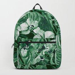 Emerald Tropical Bohemian Backpack