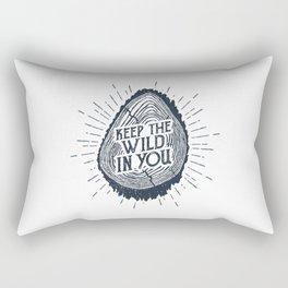 Keep The Wild In You Rectangular Pillow