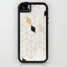 Keziah - Gold & Marble iPhone Case