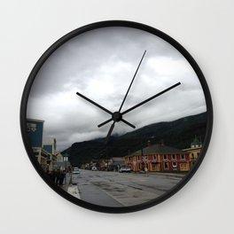 Small Town Alaska Wall Clock