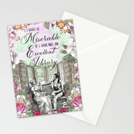 Excellent Library - Pride and Prejudice Stationery Cards