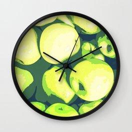 Lots of Green Apples Wall Clock