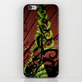 Fern Twirls iPhone Skin