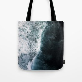 Oceanscape - White and Blue Tote Bag