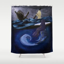The Siren's Song Shower Curtain