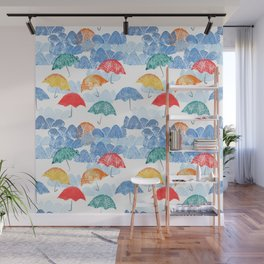 Umbrella Spring Wall Mural