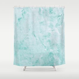 Fresh Water Marble Shower Curtain