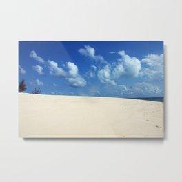 Sky Clouds Tropical Beach White Sand Africa Metal Print