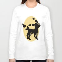 umbreon Long Sleeve T-shirts featuring Umbreon by Polvo