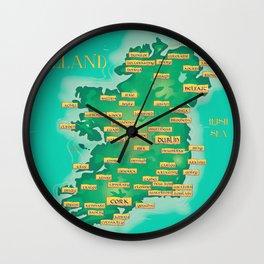 Ireland Map Wall Clock
