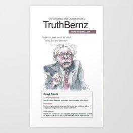 Bernie Sanders: TruthBernz Art Print