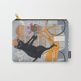 Amsterdam Cat Bicycle Ride Carry-All Pouch