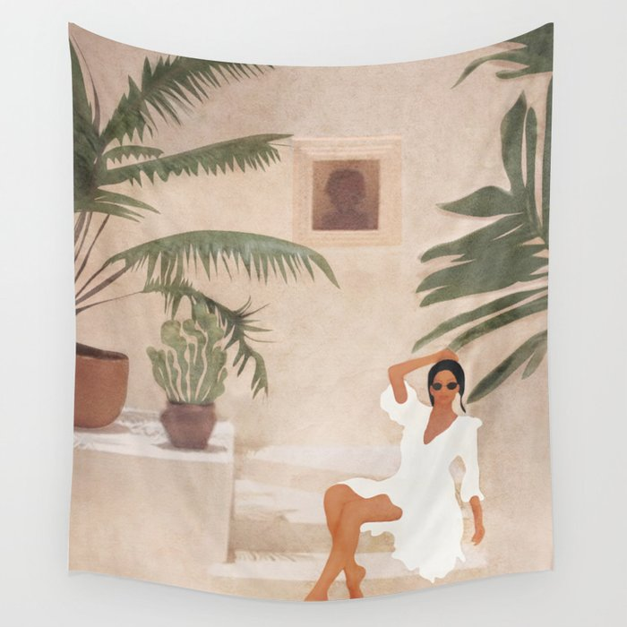 Graceful Resting II Wall Tapestry