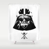 darth Shower Curtains featuring Darth. by Glassy