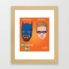 Breaking Bat Framed Art Print
