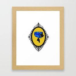 Cute As A Button Framed Framed Art Print