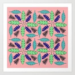 Leaf Print Art Print