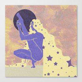 Lunar Yogini Canvas Print