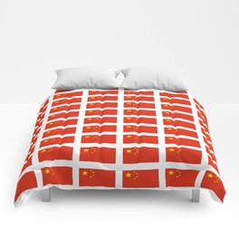 flag of china -中国,chinese,han,柑,Shanghai,Beijing,confucius,I Ching,taoism. Comforters