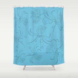 The hermit crab from the beach Shower Curtain