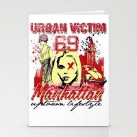 manhattan Stationery Cards featuring Manhattan  by Tshirt-Factory