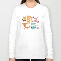 woodland Long Sleeve T-shirts featuring Woodland by Maria Jose Da Luz
