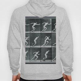 Time Lapse Motion Study Man Running Monochrome Hoody