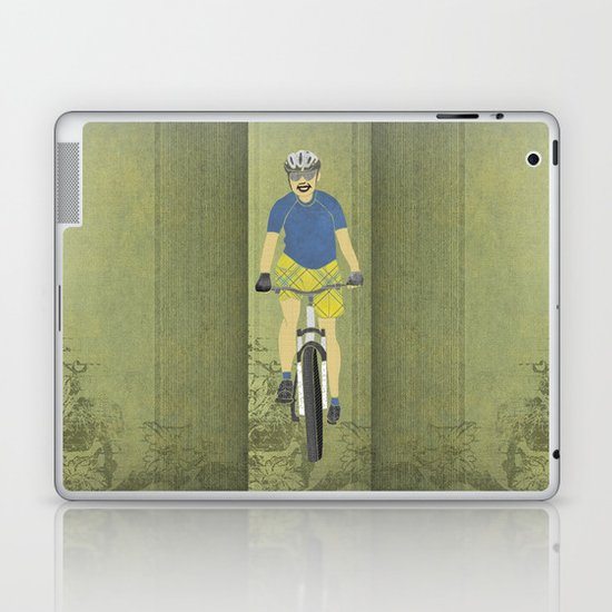 Bicycle Girl 2 Laptop & iPad Skin