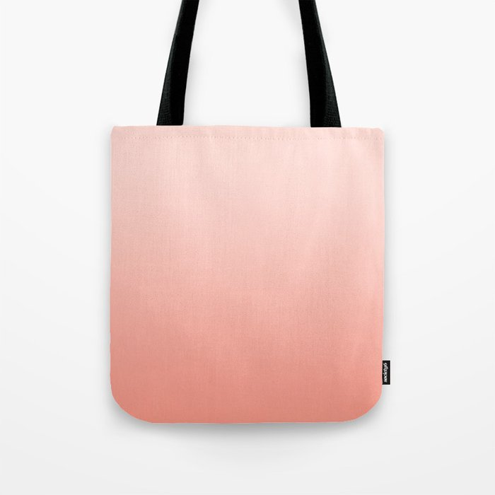Ombre pastel fade peach blush coral gender neutral basic canvas art print minimalist Tote Bag