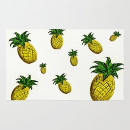 Summer Pineapple Print Rug