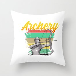 Awesome Archery Shooting Bow Competitive Archer Throw Pillow