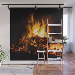 Fire flames Wall Mural