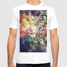 the Tree of Many Colors White Mens Fitted Tee MEDIUM