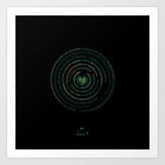 Spectrographic Portrait of the King of Limbs #1 Art Print