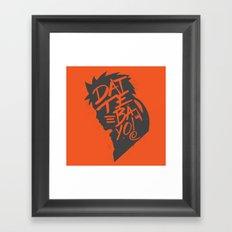 Will of Team 7 [Orange-Alt] Framed Art Print