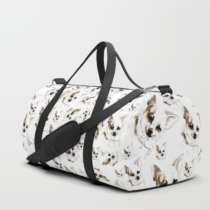 Chihuahua watercolor pattern Duffle Bag