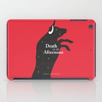 hemingway iPad Cases featuring Ernest Hemingway book Cover & Poster - Death in the Afternoon by Stefanoreves