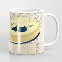 Vintage Pig and Dog Celluloid Boxes in Gouache Coffee Mug