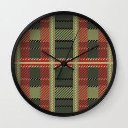 Holiday Plaid Wall Clock