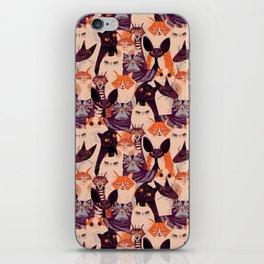 Clowder of Cats iPhone Skin