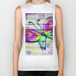 Butterflies and Bricks Biker Tank
