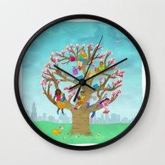 Tree Readers Wall Clock