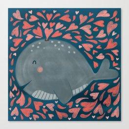 Whale You Be Mine Canvas Print