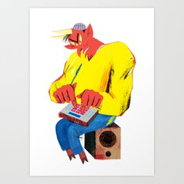 Sold my soul for a sick beat Art Print