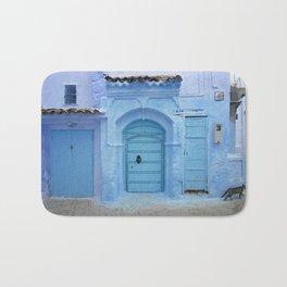 Street Scene, Chefchaouen (Morocco) Bath Mat