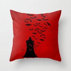 Rise of the bats Throw Pillow