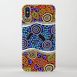 Authentic Aboriginal Art - River Journey iPhone Case