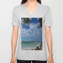A Tropical Beach Unisex V-Neck